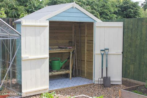 Diy Painting And Installing Small Shed