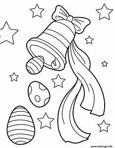 Coloriage De Paque : coloriage cloche de paques avec oeufs dessin ~ Melissatoandfro.com Idées de Décoration