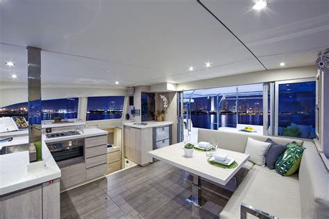 Catamaran Interior by Leopard 40 Catamaran Interior Photography Nautique Tv