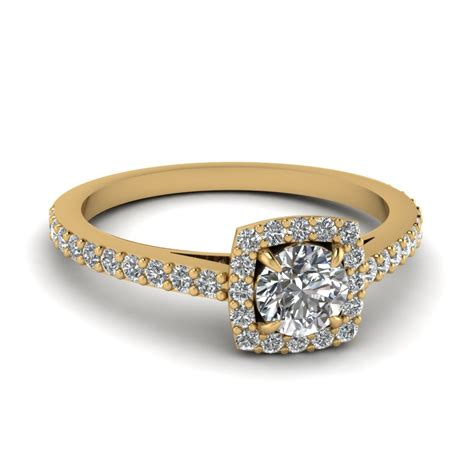 carat diamond petite halo engagement ring