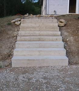 ferraillage auto construction d39une maison en bois massif With faire un escalier exterieur en beton