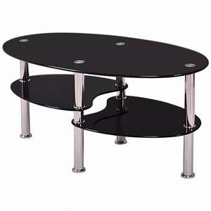 Tempered glass oval side coffee table shelf chrome base for 2 shelf glass coffee table