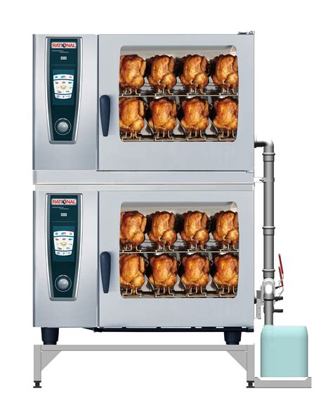 rational cuisine chicken cooking in a rational selfcooking center with container rational