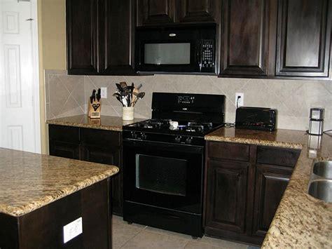 espresso kitchen cabinets with black appliances espresso kitchen cabinets with black appliances kitchen 9645