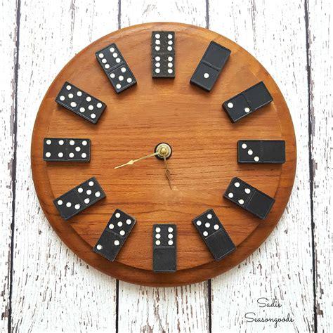 diy vintage domino wall clock  perfect  easy gift