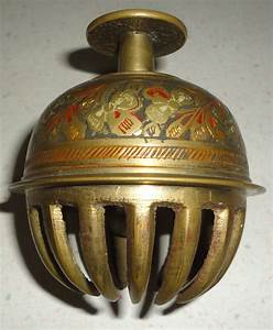 Vintage, Solid, Brass, Painted, Claw, Bell, Circa, 1960, Home, Decor