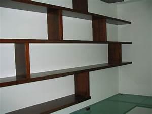 Etagere Murale Fixation Invisible : bibliotheques artisan ebeniste et architecte bois real ~ Melissatoandfro.com Idées de Décoration