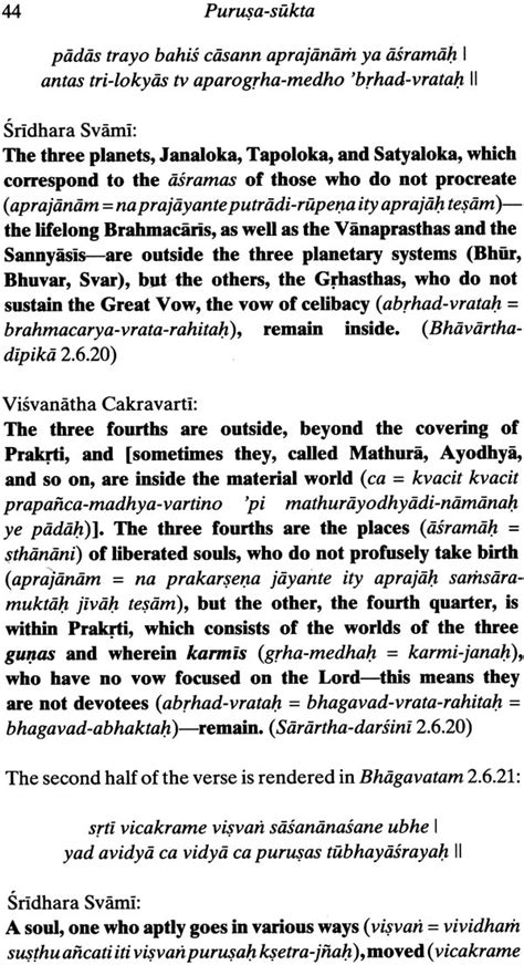 Purusasukta The Most Ancient Vedic Hymn (with The