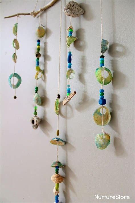 shell mobile seaside craft nurturestore