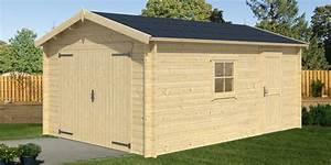 Prix Garage Parpaing 20m2 : garage en bois samoa 19 m2 madrier 40 mm pas cher a ~ Dailycaller-alerts.com Idées de Décoration
