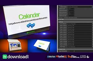 3d calendar preset videohive project free download With after effects project files and templates free download