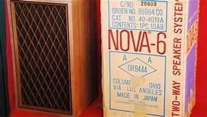Vintage Speakers  Realistic Nova-6 - Sheffield Lab Drum Solo Demo Via Home Theater