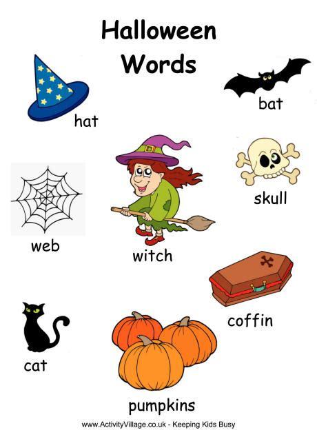 Halloween Word Poster 1