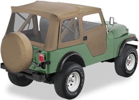 jeep soft top tan bestop supertop soft top for jeep tan 2 piece soft