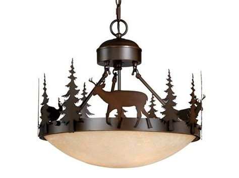 Lodge Chandeliers by Bryce Vaxcel Deer Semi Flush Lighting Country Lodge Rustic