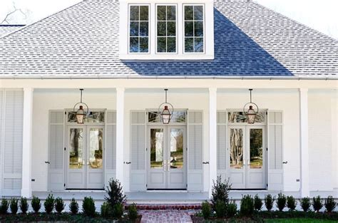 House With White Shutters by House Colors Bm Soft Chamois And Shutters Bm Silver Song