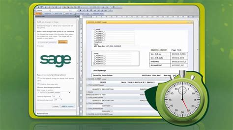 create  branded invoice   seconds  sage instant