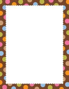 Chocolate Border Paper
