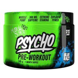 muscle junkie psycho pre workout   blue razz reviews