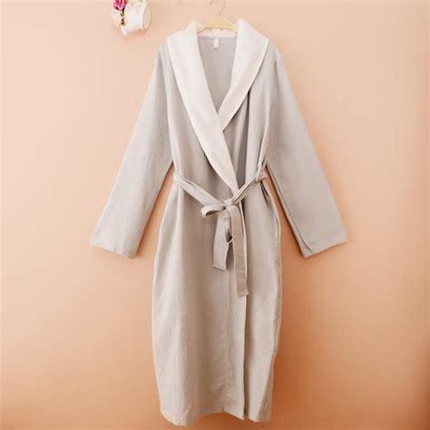 robe de chambre femme coton robe de chambre nid d 39 abeille coton eté femme grise achat vente robe de chambre cdiscount