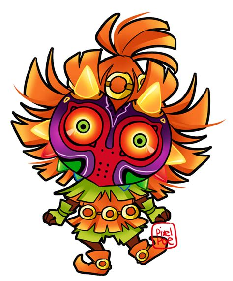 The Legend Of Zelda Majora S Mask Wallpaper Skull Kid Chibi By Pixelpoe On Deviantart