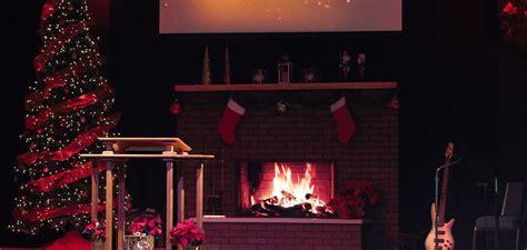 christmas fire church stage design ideas