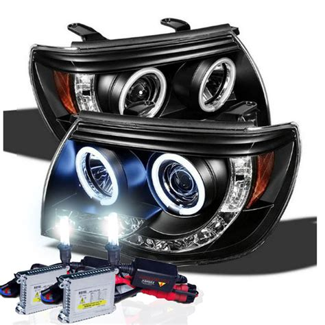 hid lights kits xenon hid kit 05 11 toyota tacoma halo led projector