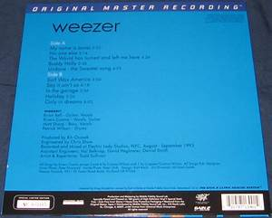 Weezer – The Blue Album MoFi back numbering | Stitches and ...