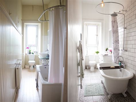 bathroom makeover   kate la vie
