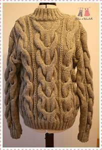 Gros Pull Laine Homme : quand femme tricote gros pull ruban et ribambelle ~ Louise-bijoux.com Idées de Décoration