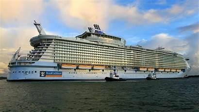 Ship Cruise Allure Sky Seas Clouds Parede
