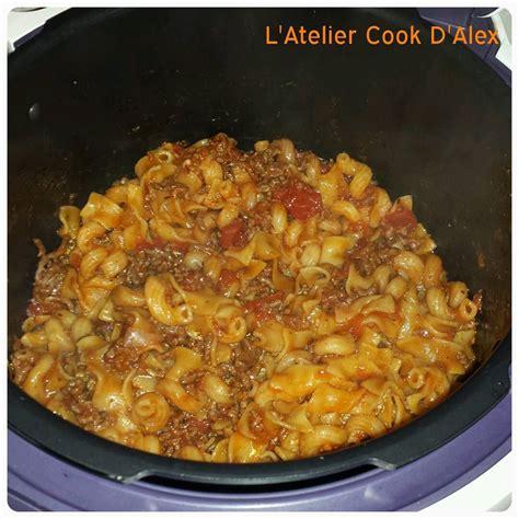 origan cuisine pâtes à la bolognaise à ma sauce au cookeo la cuisine