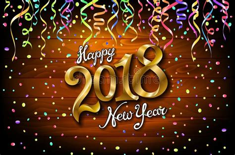 2018 Vector Happy New Year Background With Gold Serpentine