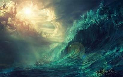 Stormy Raging Storm Ocean Rough Waves Seas