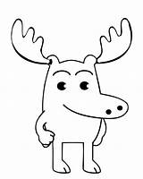 Moose Coloring Pages Printable Baby Cute Colouring Christmas Cartoon Sheet Sheets Draw Print Easter Getcoloringpages Easy Therapeutic sketch template