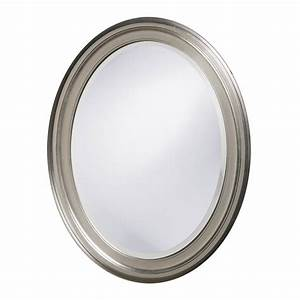 Oval Bathroom Mirrors Brushed Nickel - Traditional Minka