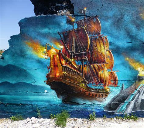 Barco Pirata Wow by Kelp Cl Portal En Espa 241 Ol Sobre Graffiti Meets Design