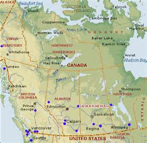 West Canada Map