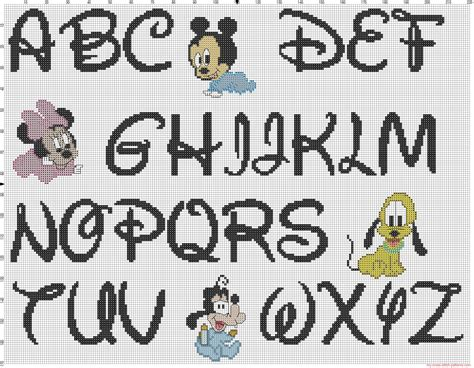 Free Disney Cross Stitch Alphabet Patterns