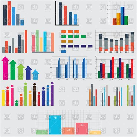 charts  graphs  reports  statistics vector image  business finance  andreyli