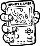 Coloring Games Computer Playing Nintendo Gamer Handy Wecoloringpage sketch template