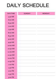 au pair daily schedule template share your schedules for training your aupair the first week
