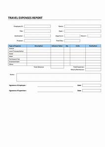 Travel Expenses Form Template Report Archives Freewordtemplates Net