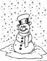 Frosty Snowman Coloring Pages Snow Printable Weather Karen Getcoloringpages 123coloringpages sketch template