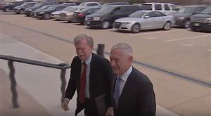 Mattis jokes with Bolton: 'I heard you're actually the ...