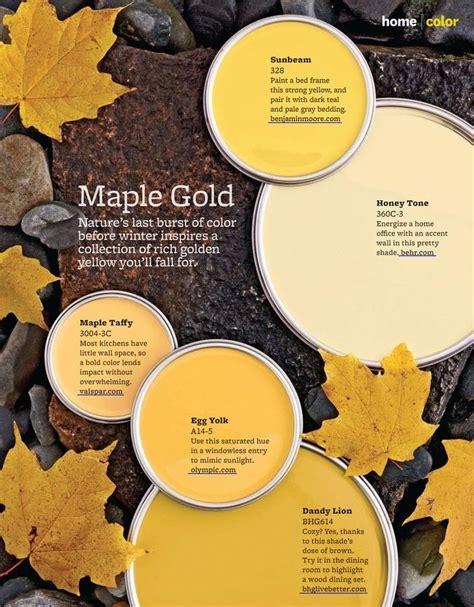 maple gold paint colors from better homes gardens 328