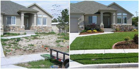 front yard makeovers    ryno lawn care llc