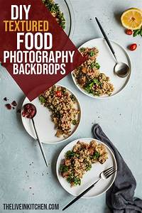 DIY Textured Food Photography Backdrops - The Live-In Kitchen