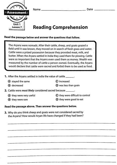 6th grade reading comprehension homeshealth info
