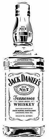 Jack Daniels Clip Stencil Bottle Silhouette Clipart Vector Ak0 Birthday Desenhos Daniel Whiskey Vorlagen Pyrography Retro Label Coloring Dessin Bourbon sketch template
